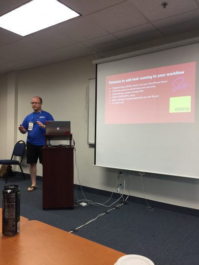 Ian Svoboda speaking at WordCamp Jacksonville 2017